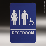 Unisex With Wheelchair ADA Sign ADA Signs
