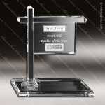 Crystal Clear Real Estate Sign Trophy Award All Clear Crystal Awards