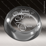Crystal  Clear Circle Insignia Paper Weight Trophy Award All Clear Crystal Awards