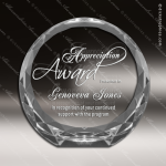Crystal  Clear Circle Illuminate Paper Weight Trophy Award All Clear Crystal Awards