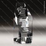 Crystal  Clear Optic Newport Octagon Tower Trophy Award All Clear Crystal Awards