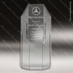 Crystal  Wide Octagon Tower Trophy Award All Clear Crystal Awards