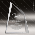 Crystal  Facet Wedge Trophy Award All Clear Crystal Awards