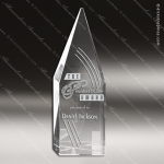 Crystal  Diamond Arrowhead Obelisk Trophy Award All Clear Crystal Awards