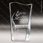 Crystal  Facet Wave Fan Shaped Trophy Award All Clear Crystal Awards