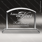Crystal  Domed Arch Rectangle Billboard Trophy Award All Clear Crystal Awards