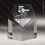Crystal  Clear Pentagon Tower Paperweight Trophy Award All Clear Crystal Awards