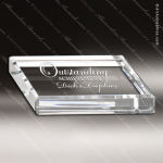 Crystal  Rectangle Personalized Paperweight Trophy Award All Clear Crystal Awards