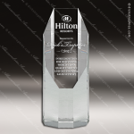 Crystal  Octagon Pillar Trophy Award All Clear Crystal Awards