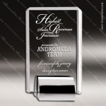 Crystal Silver Accented Plaque Chrome Base Trophy Award All Clear Crystal Awards