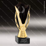 Cup Trophy Economy Gold Cone Black Accented 2 Your Logo Holder Modern Cup All Cup Trophy Awards