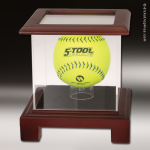 Display Case Acrylic Wood Cherry Finish for Softball All Display Cases