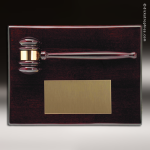 Engraved Rosewood Plaque Gavel Mounted Gold Plate Wall Plaque Award All Gavel Trophy Awards