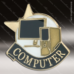 Lapel Pin - Computer Club Academic Metal Chenille Letter Insignia All Lapel Chenille Pins
