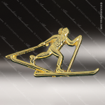 Lapel Pin - Cross Country Skiing Chenille All Lapel Chenille Pins