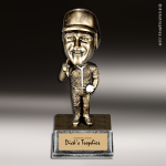 Resin Antique Bobble Head Series Baseball Male Trophy Award Antique Bobble Head Resin Trophy Awards