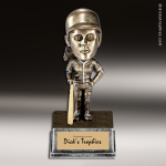 Resin Antique Bobble Head Series Baseball Female Trophy Award Antique Bobble Head Resin Trophy Awards