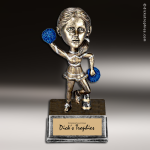 Resin Antique Bobble Head Series Cheerleading Female Trophy Award Antique Bobble Head Resin Trophy Awards