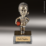 Resin Antique Bobble Head Series Basketball Female Trophy Award Antique Bobble Head Resin Trophy Awards