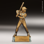 Resin Antique Gold Series Baseball Female Trophy Award Antique Gold Resin Trophy Awards