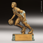 Resin Antique Gold Series Basketball Male Trophy Award Antique Gold Resin Trophy Awards