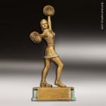 Resin Antique Gold Series Cheerleading Female Trophy Award Antique Gold Resin Trophy Awards