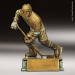 Resin Antique Gold Series Hockey Male Trophy Award Antique Gold Resin Trophy Awards