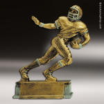 Resin Antique Gold Series Football Male Trophy Award Antique Gold Resin Trophy Awards