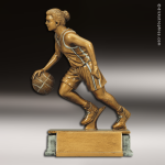 Resin Antique Gold Series Basketball Female Trophy Award Antique Gold Resin Trophy Awards