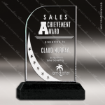 Acrylic Black Accented Arch Global Reference Trophy Award Arch Shaped Acrylic Awards