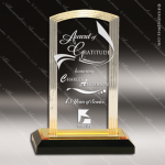 Acrylic Gold Accented Step Arch Impress Trophy Award Arch Shaped Acrylic Awards