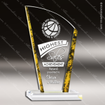 Acrylic Gold Accented Avanti Arch Marble Edge Trophy Award Arch Shaped Acrylic Awards