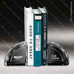 Crystal Clear Bookends Pair Trophy Award Arch Shaped Crystal Awards