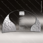 Crystal Clear Arch Compass Trophy Award Arch Shaped Crystal Awards
