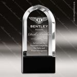 Crystal Black Accented Cathedral Arch Trophy Award Arch Shaped Crystal Awards