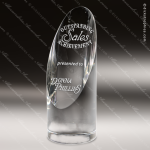 Crystal Cylinder Arch Slanted Face Trophy Award Arch Shaped Crystal Awards