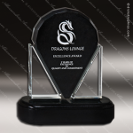 Glass Black Accented Arch Resonant Trophy Award Arch Shaped Glass Awards