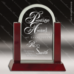 Jackson Arch Glass Rosewood Accented Trophy Award Arch Shaped Glass Awards