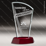 Tacloban Glass Rosewood Accented Sail Series Trophy Award Arch Shaped Glass Awards