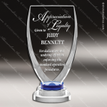 Tangelo Glass Blue Accented Arch Chalice Series Trophy Award Arch Shaped Glass Awards