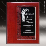 Engraved Rosewood Plaque Black Ebony Fusion Art Award Art Glass Plaque Collection