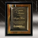 Engraved Black Piano Finish Plaque Brown Metallic Fusion Art A Art Glass Plaque Collection