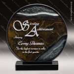 Victualage Sphere Artistic Gray Bonze Art Glass Trophy Award Artistic Glass Awards