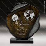 Vickton Freedom Artistic Gray Bronze Art Glass Trophy Award Artistic Glass Awards
