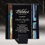 Machiavelli Tray Artistic Black Accented Art Glass Tray Trophy Award Artistic Glass Awards