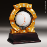 Resin Ball Spinner Series Baseball Trophy Award Ball Spinner Resin Trophy Awards