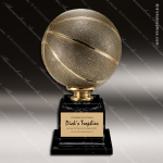 Premium Resin Large Gold Full Size Basketball Trophy Award Ball Trophy Awards