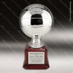 Premium Resin Large Silver Volleyball Trophy Award Ball Trophy Awards