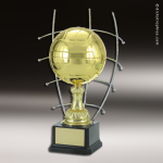 Champion Metal Large Gold Brass Volleyball Trophy Award Ball Trophy Awards