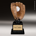 Premium Resin Large Color Goden Glove Trophy Award Ball Trophy Awards